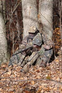 Adult and youth fall turkey hunting